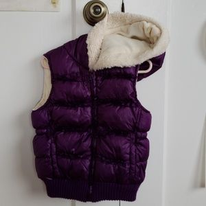 Old Navy - Purple Hooded Puffy Vest